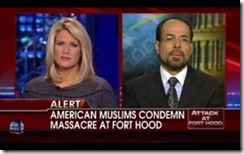 The Fox News Channel's Martha MacCallum with CAIR Executive Director Nihad Awad