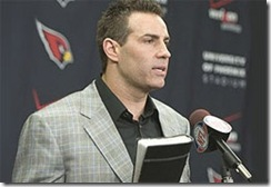 Arizona Cardinals quarterback Kurt Warner announces his retirement from football Friday, Jan. 29, 2010 at the Cardinals' training facility in Tempe, Ariz.